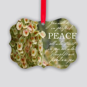 Perfect Peace Picture Ornament